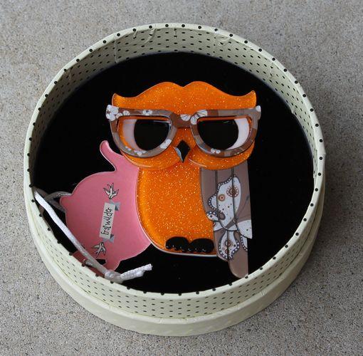 Erstwilder Brooch - Waldo the Wacky Wise Owl