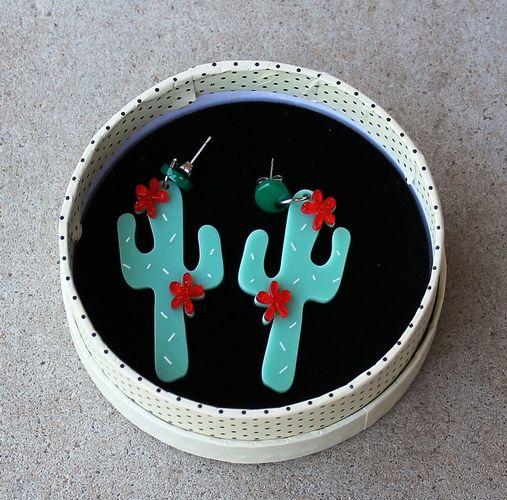 Erstwilder Stud Earrings - Prickly Pair