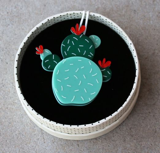 Erstwilder Brooch - Cuddly Cactus