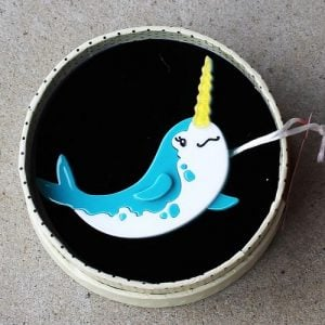 Erstwilder Brooch – Nina of the North (Narwhal)