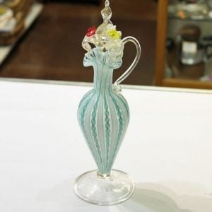 Glass Ewer with Ornate Stopper