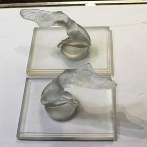 Lalique Car Mascot Figures - Pair