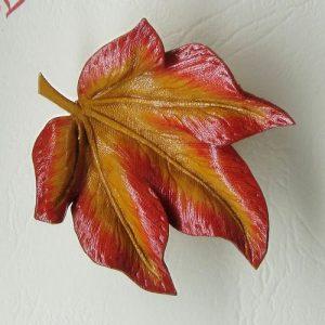 Leather Leaf Brooch