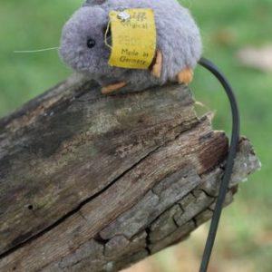 Steiff Grey Mouse Woollen – 4cm Vintage