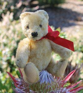 Steiff Original Teddy blonde. 18cm – vintage.