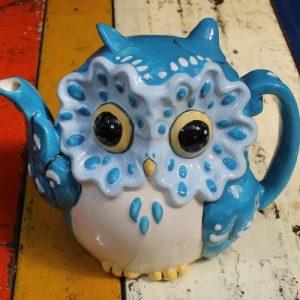 Blue Owl Teapot