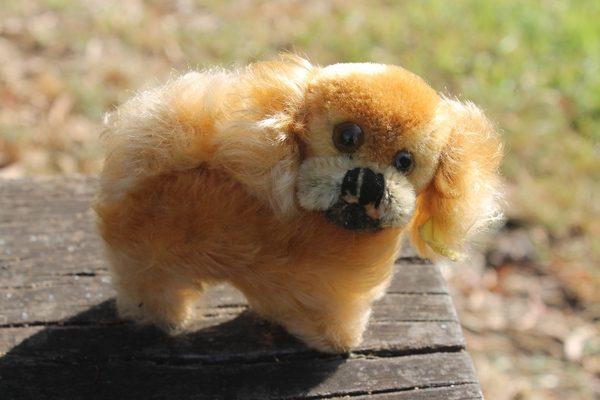 Steiff Peky Pekinese Dog 8cm - vintage