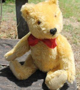Steiff Original Teddy – blonde.  28cm. Vintage.