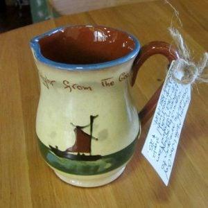 Torquay Mottoware Jug/Creamer - Antique