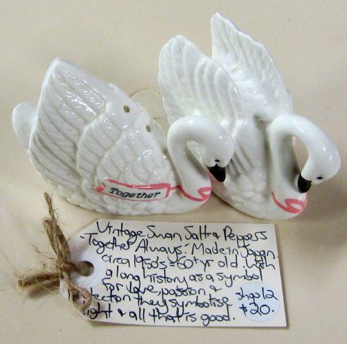 Vintage, Swans Together Always, Salt & Pepper