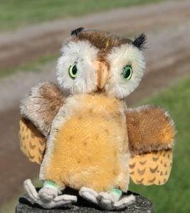 Steiff Wittie Owl 14cm – vintage