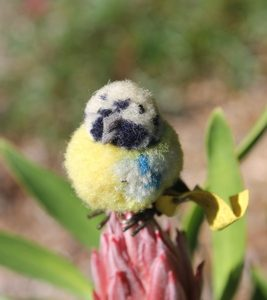 Steiff Blue Tit Bird Woollen 4cm – vintage