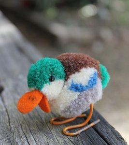 Steiff Drake Bird Woollen 6cm – vintage