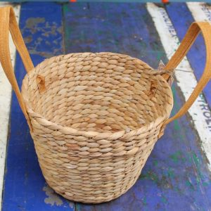 Basket - Two Suede Handles