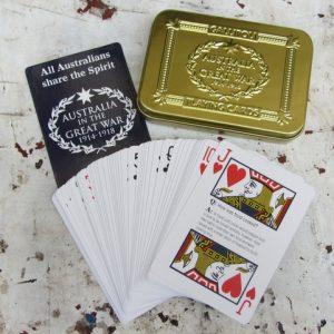 Playing Cards in Tin - Gallipoli