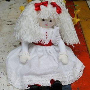 Cloth Rag Doll – Elizabeth with red sash
