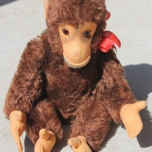 Monkey by Hermann Red – 35cm