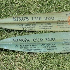 Men's Eight 'King's Cup' 1950 & 1951 Rowing Oar Pair