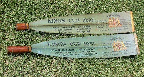 Men's Eight 'King's Cup' 1950 & 1951 Rowing Oar Pair