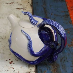 Octopus Blue Teapot