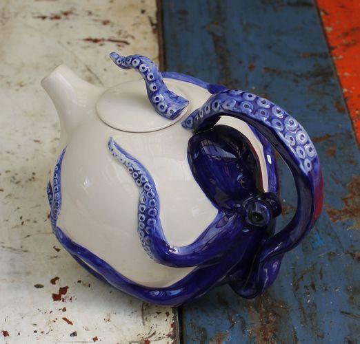 Octopus Blue Teapot