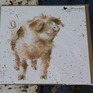 Truffles Pig Greeting Card