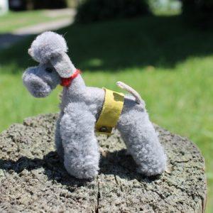 Steiff Poodle Dog Woollen Grey 6cm – vintage
