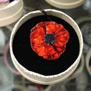 Erstwilder Brooch - Poppy Field - Red