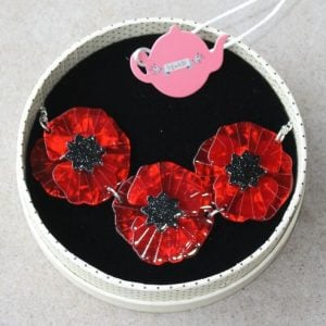 Erstwilder Necklace – Poppy Fields – Red