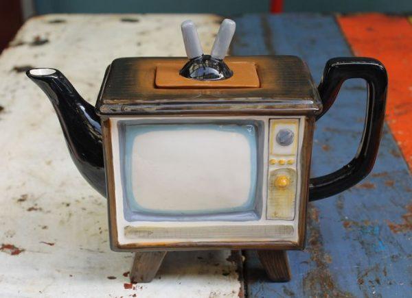 Retro TV Teapot