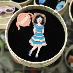 Erstwilder Brooch – Rockabilly Queen