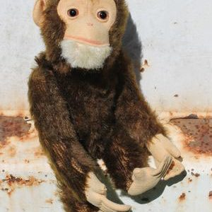 Schuco Yes/No Monkey – 25cm Vintage