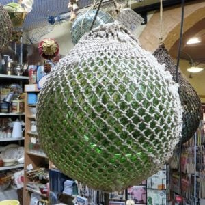Fishing Float – 12 inch green in white net