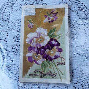 Postcard – Pansy