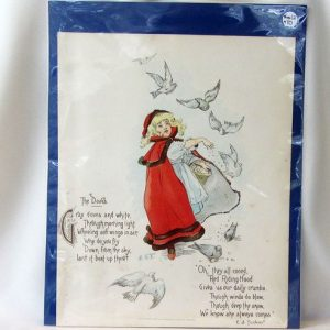 Book Plate – Girl Feeding Doves