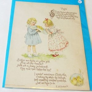 Book Plate – Children with Chickens