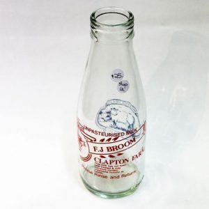Milk Bottle – F.J. Broom Clapton Farm