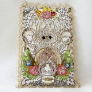 Scrap Greeting Card – Flowers & Beads