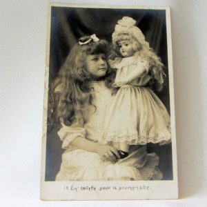 Postcard – Girl with Doll