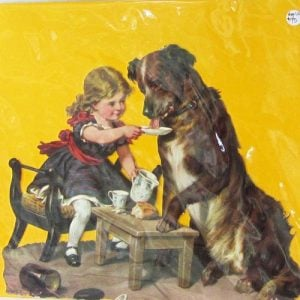 Scrap – Girl feeding a dog