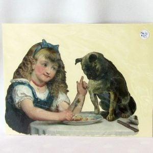 Scrap – Girl Feeding a Pug Dog
