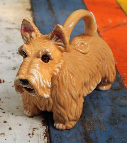 Terrier Brown Teapot