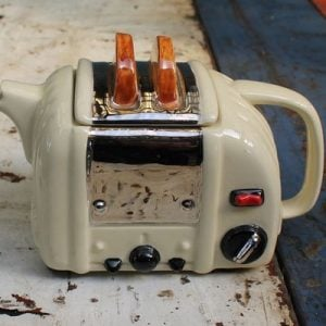 Toaster Teapot – Medium Size Cream