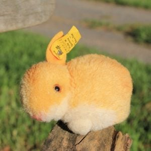 Steiff Rabbit Woollen Yellow 6cm - vinatge