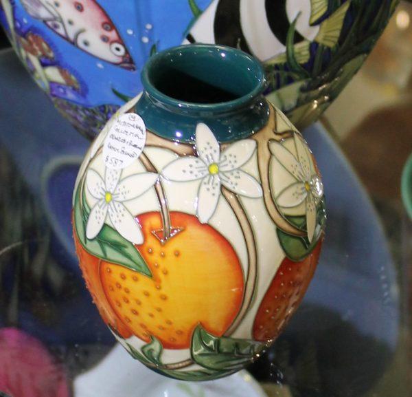 Moorcroft - Oranges & Blossoms Vase