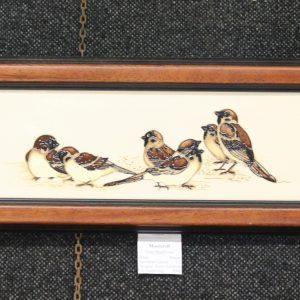 Moorcroft - Tree Sparrow Plaque