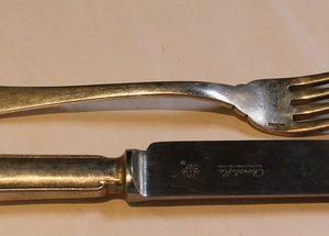 WWII Era Wewelsburg Knife & Fork