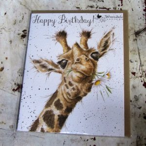 Greeting Card – Giraffe Happy Birthday