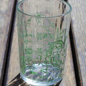 Alice in Wonderland Glass – Green