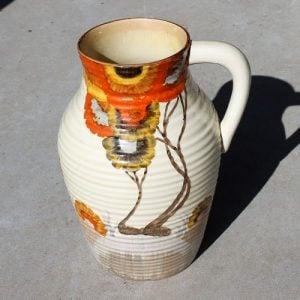 morpeth antique centre hunter valley clarice cliff england pottery ceramic bizarre rhodanthe lotus vase 1934 1941 hand painted newport
